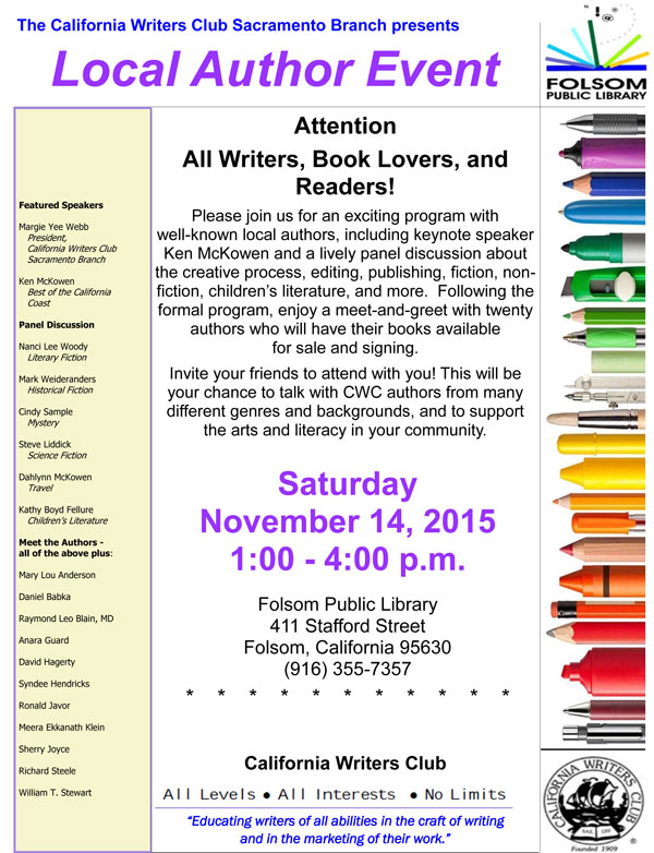 Author Event - November 14, 2015