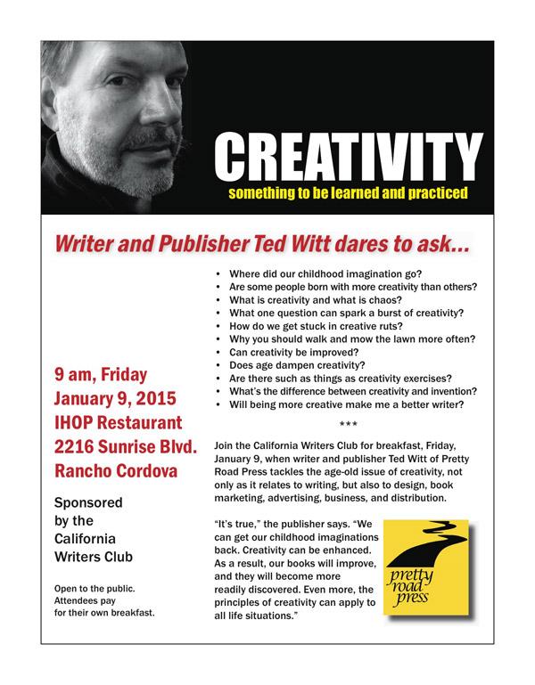 Creativity Flyer Ted Witt